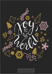 Kaart kerst Joy to the world