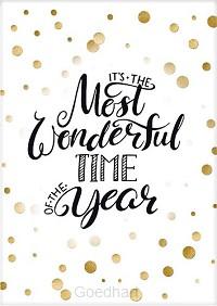 Kaart kerst It's the most wonderful time