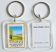 Sleutelhanger psalm 145:2 landschap