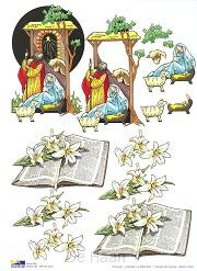 3d knipvellen s20 kerststal+bijbel m lel