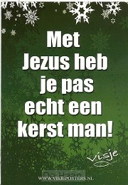 Kaart visje kerst kleur met Jezus heb je
