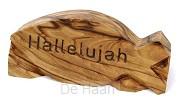 Vis olijfhout 8.5cm halleluja