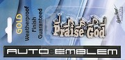 Auto embleem praise God