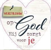 Vertrouw op God Hij zorgt voor je