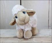 Sheep standing lazy eyes 21x18cm