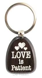 Sleutelhanger love is patient