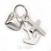 Silver pendant faith hope love 11mm