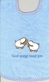 Slab blauw schaapjes God zorgt voor jou