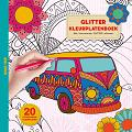 Glitter kleurplaten boek - Road trip