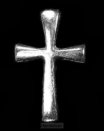 Reverpin zilver kruis 14 mm