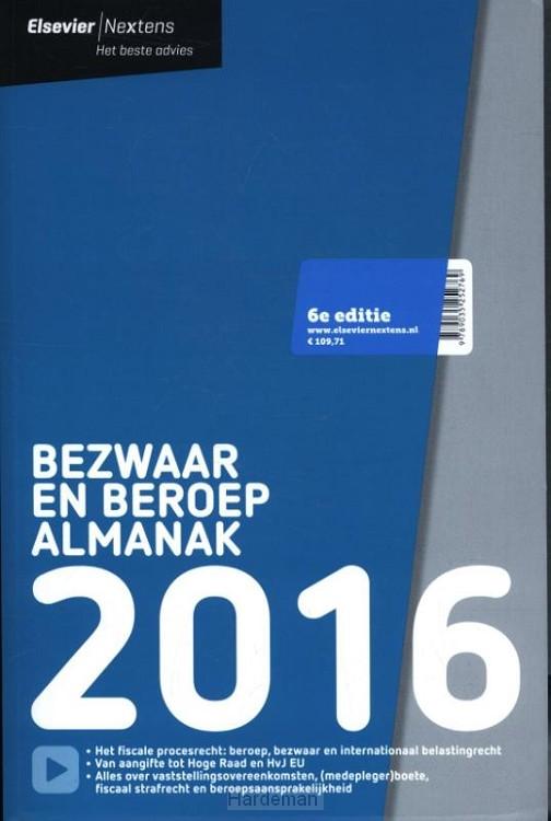 Elsevier bezwaar en beroep almanak / 2016