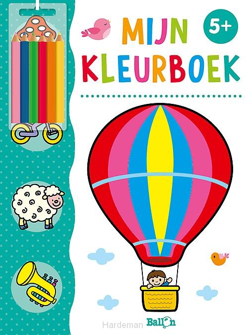 Mijn kleurboek luchtballon 5+