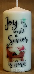 Kerstkaars XL 15cm Joy