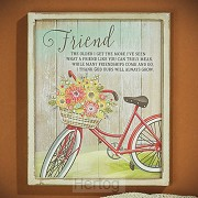 Wall plaque friend