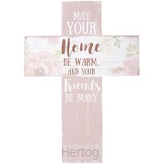 Wall cross God bless our home
