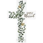 Wall cross simply blessed