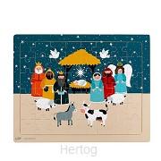 48pc tray puzzle starlight nativity 28x2
