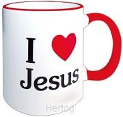 Beker I love Jesus