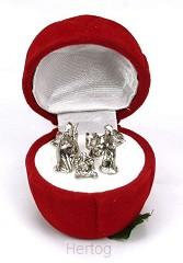Kerststal midi in rode roos
