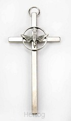 Kruis H.G. duif zilverkleur