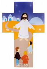 Kruisje hout Jezus vriend van alle kinde