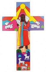Kruisje hout goede herder 0912