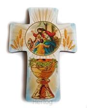 Kruisje communie licht blauw