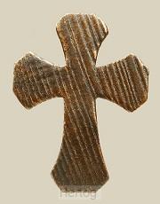Kruis breeduitlopend brons 12 cm