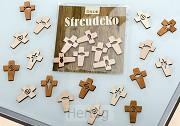 Kruisje hout decoratie (18 stuks) 6 vers