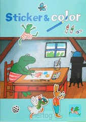 Kikker sticker & color buro kleurboek