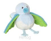 Birdy met geluid blauw 18cm