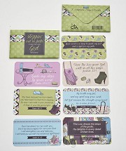 7 scripture cards/ wallet stepping out