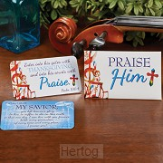 7 scripture wallet cards praise Him