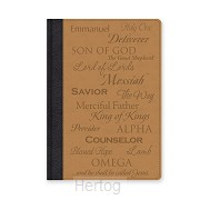 Leatherlux journal names of Jesus