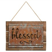 Wall art 25,7x35cm blessed