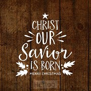 Kerstkaart Christ our Savior is born