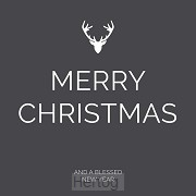 Kerstkaart Merry Christmas and a blessed