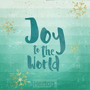 Kerstkaart Joy to the world