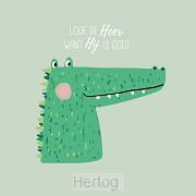 Kinderkaart psalm 106:1 krokodil