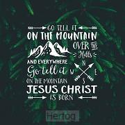 Kerstkaart Go tell it on the mountain