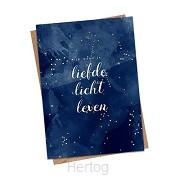 Kerstkaart blauw Psalm 36:10-11