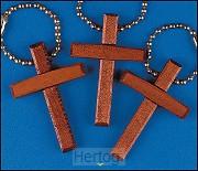 Keychain wooden cross set 12