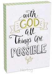 Wall plaque with God all things