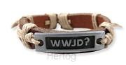 Leather bracelet wwjd