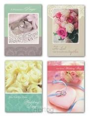 Wedding cards rings 7 flowers set4