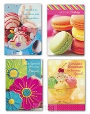 Birthday cards desserts set4