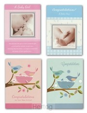 Birth congratulations cards baby set4