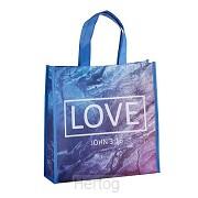 Laminated tote bag God loves you