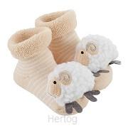 Lamb rattle socks 3-12months