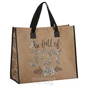 Laminated tote bag be full of joy